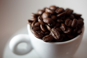 coffee beans in cup, flickr