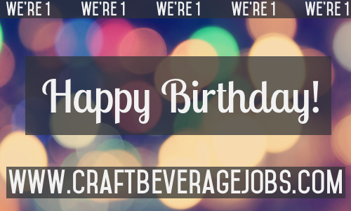 Happy Birthday Craft Beverage Jobs